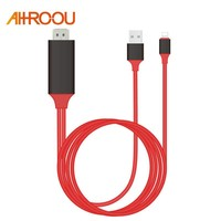 Plug & Play 2M 8 Pin For Lightning to HDMI Cable HD 1080P HDMI Converter Adapter Cable For iPhone X 8 7 6 6S Plus IOS 10.3 /11
