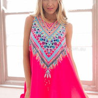 Paradise Awaits Dress (Pink) | Xenia Boutique | Women's fashion for Less - Fast Shipping