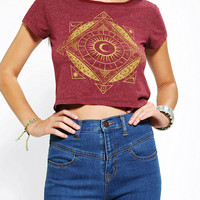 Urban Outfitters - Truly Madly Deeply Mystical Sun Cropped Tee