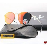 RayBan Ray-Ban Hot Sale Popular Women Men Personality Sunglasses Sun Shades Eyeglasses Glasses 4# Orange