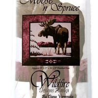 Moose n Spruce,Wildfire Designs Alaska,Applique Pattern,Quilt Pattern,Sewing Notion,Quilting Notion,Fusible Applique,Moose Applique Pattern