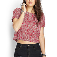 Boxy Spotted Zipper Top