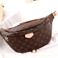 LV classic old flower female chest bag shoulder bag