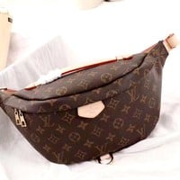 Free shipping-LV classic old flower female chest bag shoulder bag