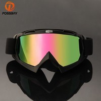 POSSBAY Cycling Motorcycle Glasses Ski Goggles UV Protection Glasses Dirt Bike Eyewear for Cafe Racer Motocross Goggles