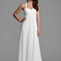 Wedding Dress Halter Chiffon A-Line with Center Front Draping Style BR1016,...