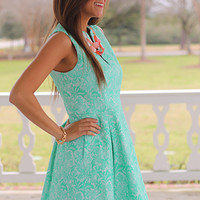 A Jungle Out There Dress, Mint