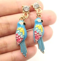 Parrot Bird Colorful Animal Dangle Earrings | Animal Jewelry