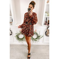 You Better Believe It Floral Dress (Black/Multi)