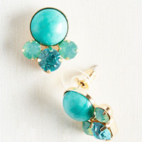 All Bright with Me Earrings in Aqua | Mod Retro Vintage Earrings | ModCloth.com
