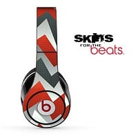 Abstract Orange Chevron Pattern Skin for the Beats by Dre Solo, Studio, Wireless, Pro or Mixr
