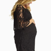 Black-Lace-Bell-Sleeve-Maternity-Tunic