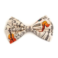 Music Bow • Instrument Hair Bow • Music Teacher Gift • Band Gift • Back to School Gift • Saxophone Player Gift • Violin Gift • Musician Gift