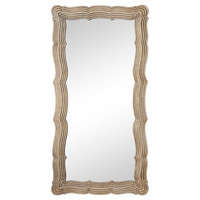 Mirrors, Anzio Floor Mirror, Silver Leaf, Floor Mirrors