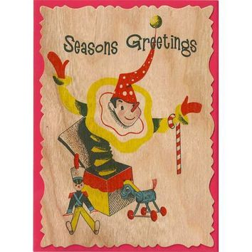 Holiday Wood Card Jack In The Box