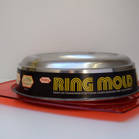 Vintage Classic Jello Ring Mold, Red Kitchen, Unused Serving Tray, Foley Aluminum Gelatin Ring Mold