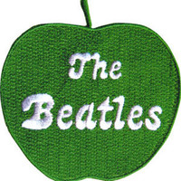 Beatles Men's Embroidered Patch Green
