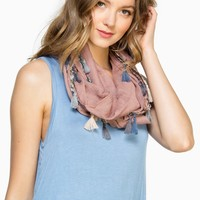 ShopSosie Style : Barlow Infinity Scarf in Mauve