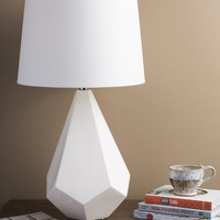 0-013939>1-Light 3-Way Table Lamp White