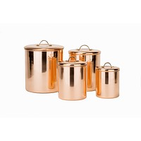 Polished Copper with Brass Knobs Pantryware Collection by Old Dutch International