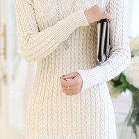 White Sweater Dress