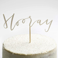Hooray! Papercut Cake Topper