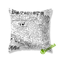 paramore lyric collage Square Pillow Cover