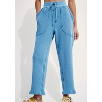Back Beat Co. Organic Cotton Waffle Jogger | Marine
