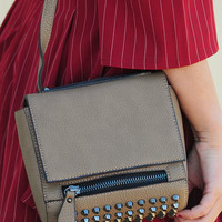 Anything But Ordinary Purse: Taupe/Silver