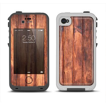 The Bright Stained Wooden Planks Apple iPhone 4-4s LifeProof Fre Case Skin Set