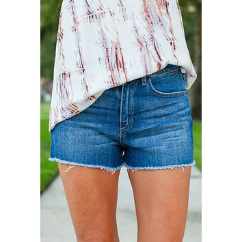 Last To Know Frayed Shorts