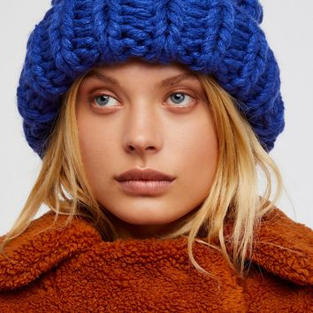Free People Chunky Bobble Knit Beanie
