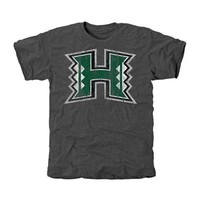 Hawaii Warriors Distressed Primary Tri-Blend T-Shirt - Charcoal
