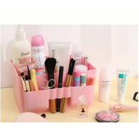 Pink Plastic Beauty Cosmetic Makeup Storage Display Counter Orgainizer Box