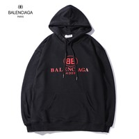 Balenciaga Autumn and winter leisure logo printing loose cotton long-sleeved hooded sweater