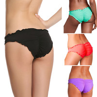 2016 Sexy Women Brazilian Cheeky Bikini Bottom Thong Bathing Beach Swimsuit Swimwear Plus Size