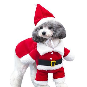 Christmas Pet Dog Jumpsuits Clothes Winter Fleece Soft puppy Dog Clothes Hoodie Dogs Coat Jacket Chihuahua Yorkshire