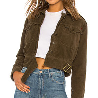 Free People Everlyn Jacket in Moss   REVOLVE