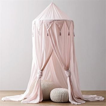 Baby Canopy Mosquito Net Crib Bed Kids Play Tent House Portable Boy Girl Princess Castle Indoor Children Playhouse Room Decor