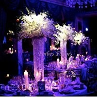 "20"" Glamorous Column Enchanted Chandelier with Battery LED Lights Centerpiece Wedding, Birthday, Annivesary & Special Occasion Centerpiece"
