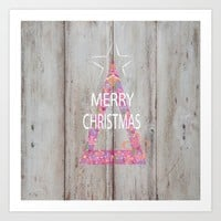Merry Christmas Art Print by SuzanneCarter