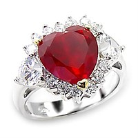 High-Polished 925 Sterling Silver Ring With Garnet