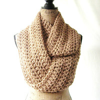 Toasted Almond Brown Cowl Scarf Fall Winter Women's Accessory Infinity