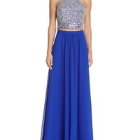 Decode 1.8Two-Piece Beaded Top Gown