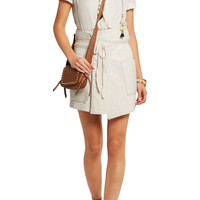 Bird quilted cotton wrap mini skirt   Isabel Marant   US   THE OUTNET
