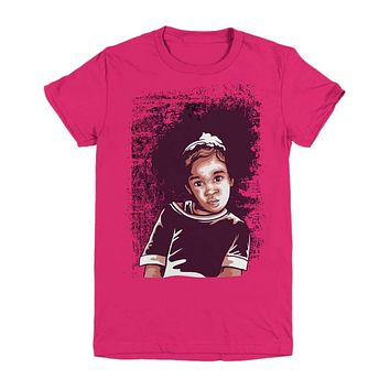 African American Girl Strong Confidence Youth Graphic Design Shirt
