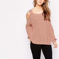 ASOS | ASOS Chunky Jumper With Cold Shoulder And Side Splits at ASOS