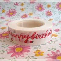 Gakken Fun Tape, happy birthday masking tape