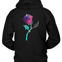 Stained Glass Rose Galaxy Hoodie Two Sided