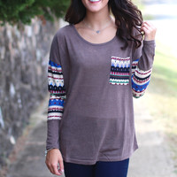Twice As Much Aztec Knit {Mocha}